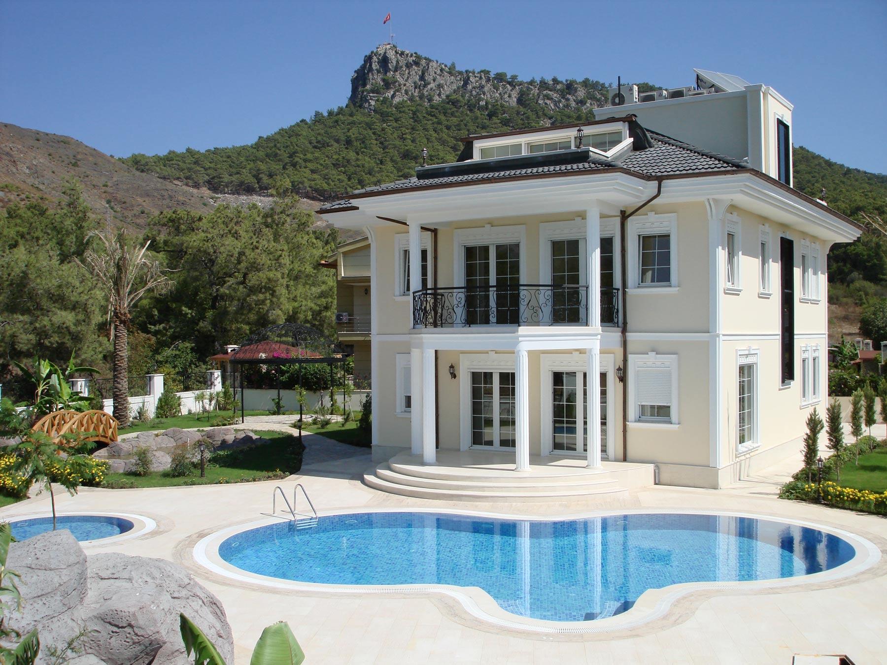 Amazing modern stylish villa full furnished white for Decoration villa moderne